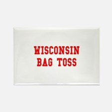 Wisconsin Bag Toss Rectangle Magnet