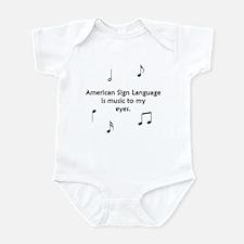 Deaf Music Infant Bodysuit