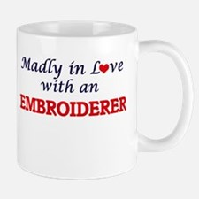 Madly in love with an Embroiderer Mugs
