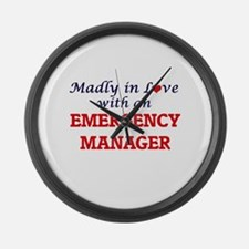 Madly in love with an Emergency M Large Wall Clock