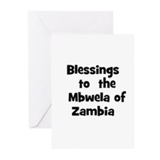 Blessings  to  the  Mbwela of Greeting Cards (Pk o