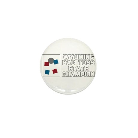 Wyoming Bag Toss State Champi Mini Button (10 pack