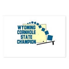 Wyoming Cornhole State Champi Postcards (Package o