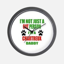 I'm a Chartreux Daddy Wall Clock