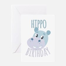 Hippo Birthday Greeting Cards