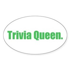 Trivia Queen Oval Decal