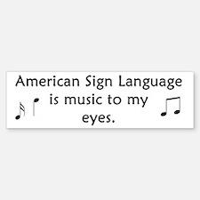 Deaf Music Bumper Bumper Bumper Sticker