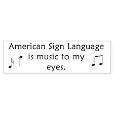 Deaf Music Bumper Bumper Sticker