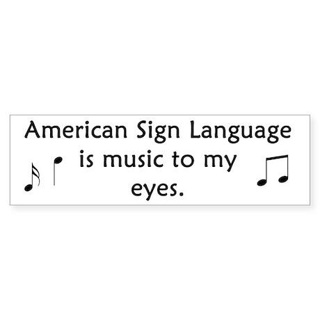 Deaf Music Bumper Sticker