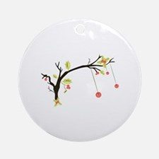 Holly Branch Round Ornament
