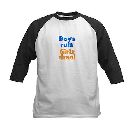 Boys Rule Kids Baseball Jersey