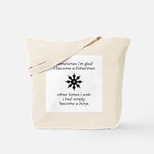 Ninja Fisherman Tote Bag