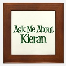 Ask Me About Kieran Framed Tile