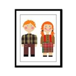 Raggedy Ann and Andy Framed Panel Print