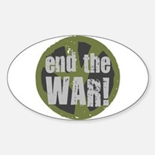 END THE WAR Peace Oval Decal