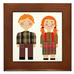 Raggedy Ann and Andy Framed Tile
