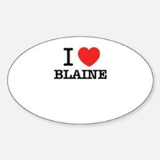 I Love BLAINE Decal