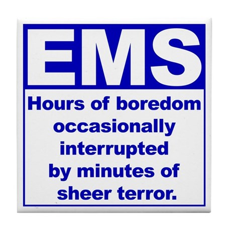 EMS - Boredom... Tile Coaster