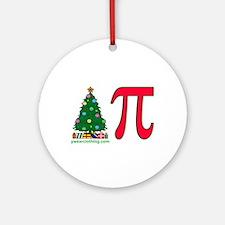 Christmas Pi Ornament (Round)