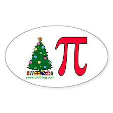 Christmas Pi Oval Decal