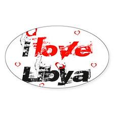 i love Libya Oval Decal