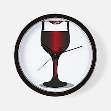 Lipstick Wine Glass Wall Clock