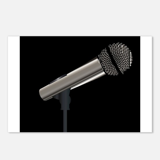 Rock Stage Microphone Postcards (Package of 8)