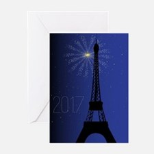 Paris Night 2017 Greeting Cards