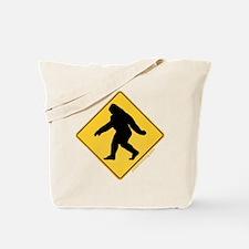 Big Foot Crossing Tote Bag