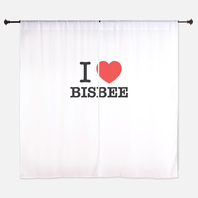 I Love BISBEE Curtains