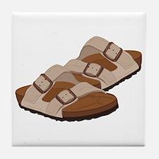 Birkenstock Sandals Tile Coaster