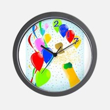 Champagne Party 2017 Wall Clock