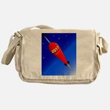 Happy New Year Rocket 2017 Messenger Bag