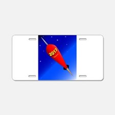 Happy New Year Rocket 2017 Aluminum License Plate