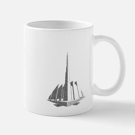 City Block Perspective Stipple Mugs