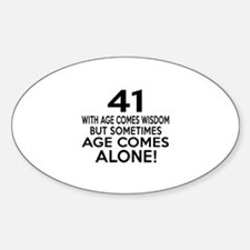 41 Awesome Birthday Designs Sticker (Oval)