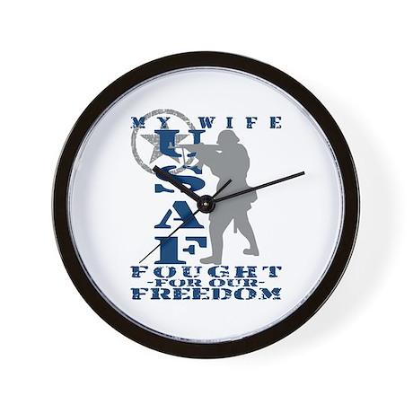 Wife Fought Freedom - USAF Wall Clock