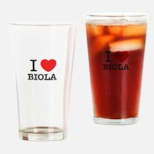 I Love BIOLA Drinking Glass