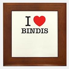I Love BINDIS Framed Tile