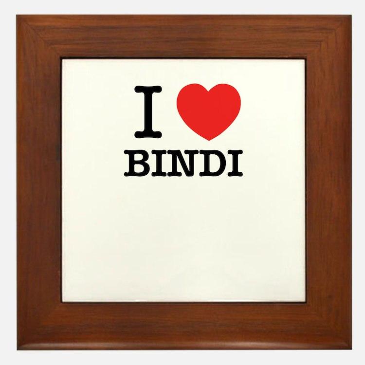 I Love BINDI Framed Tile