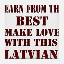 Learn best from Latvian Tile Coaster