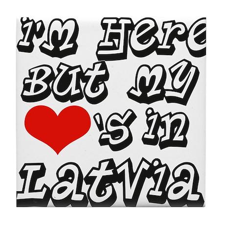 Heart in Latvia Tile Coaster