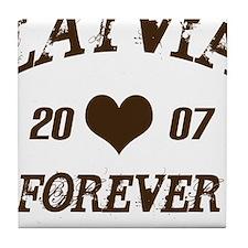 Latvia Forever Tile Coaster