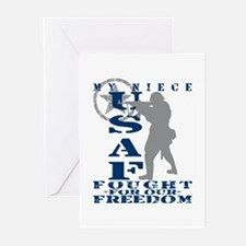 Niece Fought Freedom - USAF Greeting Cards (Pk of