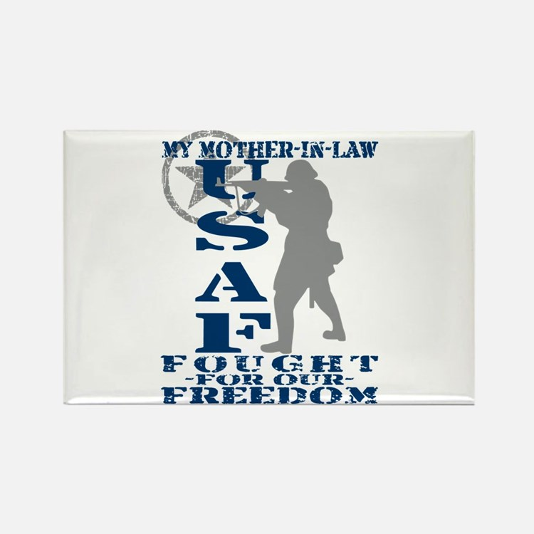 Mother-n-Law Fought Freedom - USAF Rectangle Magne