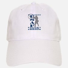 Hsbnd Fought Freedom - USAF Baseball Baseball Cap