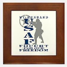 Hsbnd Fought Freedom - USAF Framed Tile