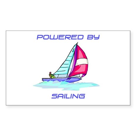 Powered By Sailing Sticker (Rectangle)