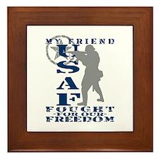 Friend Fought Freedom - USAF Framed Tile