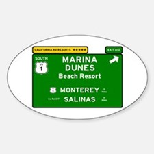 RV RESORTS -CALIFORNIA - MARINA DUNES - BE Decal